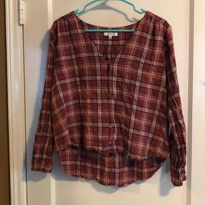 Madewell Flannel Blouse